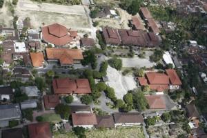 Foto kampus ISI dari sudut pandang burung