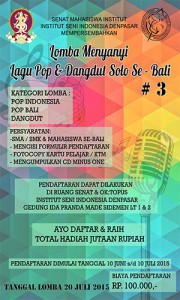 Lomba Menyanyi Lagu Pop & Dangdut Solo Se –  Bali #3
